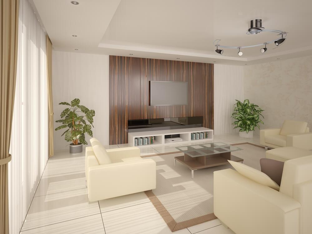 Holz ist ein sehr beliebtes Material für eine Wandverkleidung und eignet sich auch gut als Deckenpaneele