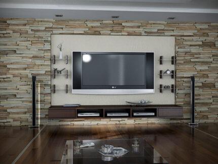 Wandverkleidung Steinoptik - Diese Art der Verkleidung ist besonders beliebt in Wohnzimmern und im Bereich des TV